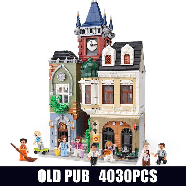 Streetview Building Blocks Compatible With MOC-18923 Book Shop Old Town Pub