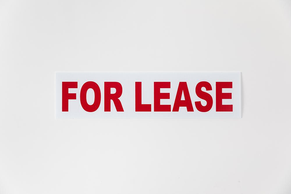 FOR LEASE SIGN - 6X18