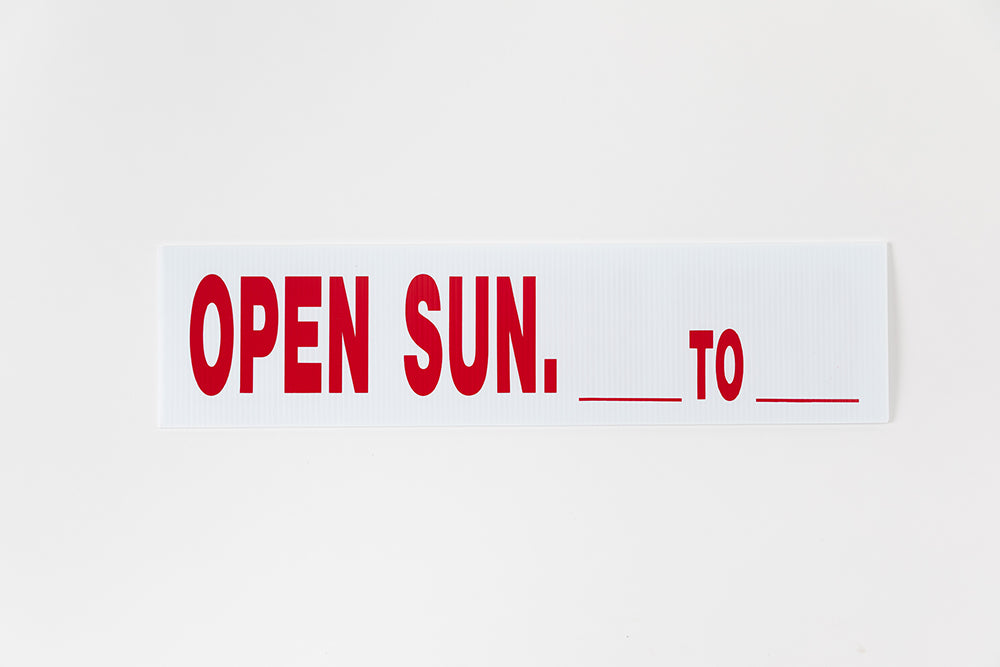 OPEN SUNDAY SIGN - 6x24