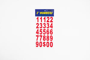 "2"" NUMBERS: RED"