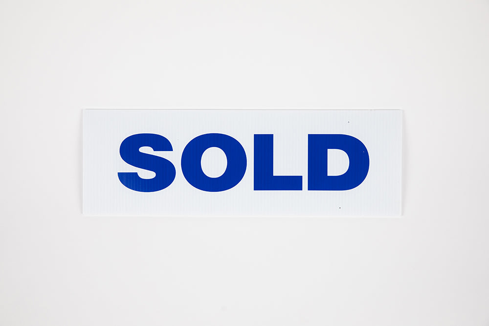 SOLD SIGN - 6X18 - BLUE