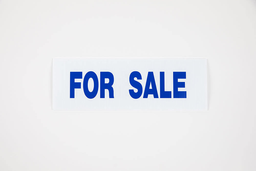 FOR SALE SIGN - 6x24 - BLUE