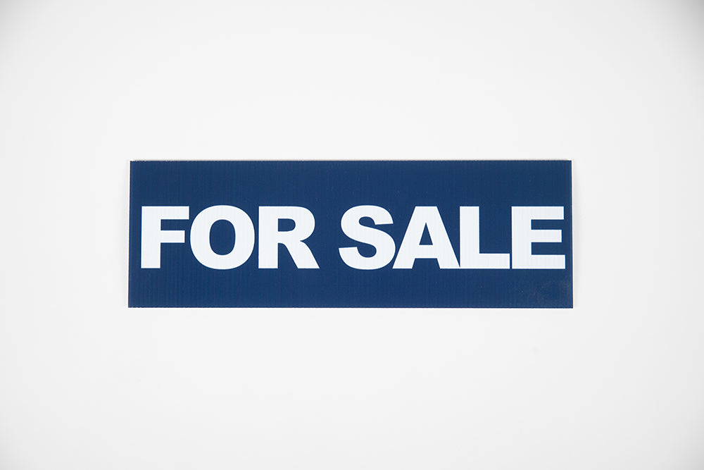 NAVY BLUE FOR SALE SIGN – 6x18