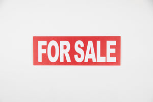 RED FOR SALE SIGN – 6x18