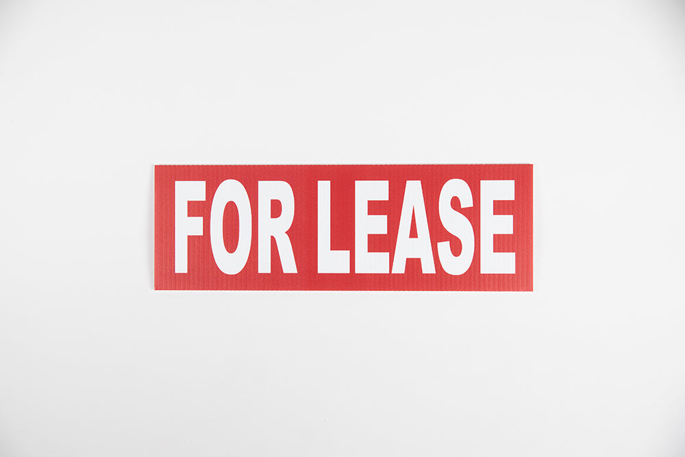 RED FOR LEASE SIGN – 6x18