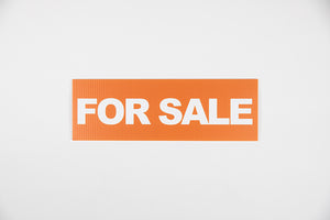 ORANGE FOR SALE SIGN – 6x18