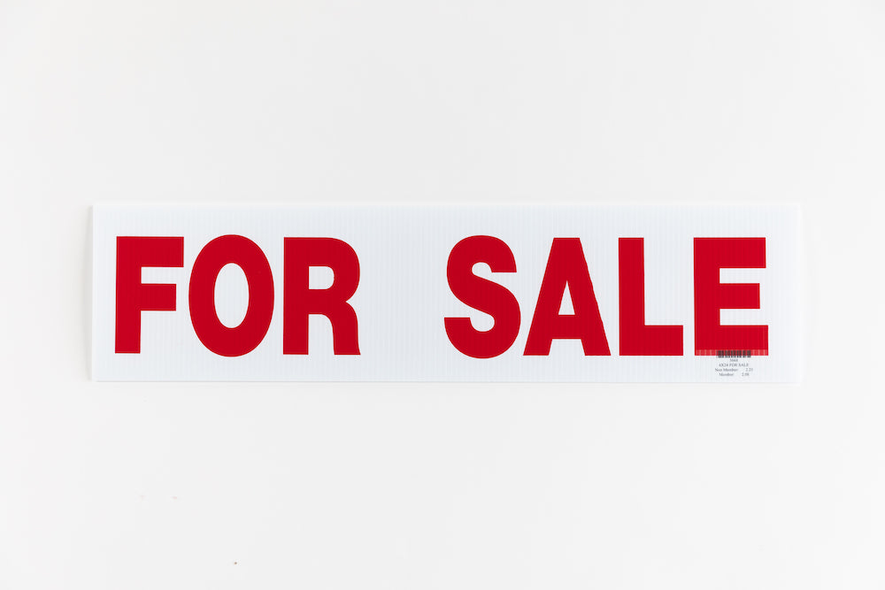 FOR SALE SIGN - 6x24 - RED