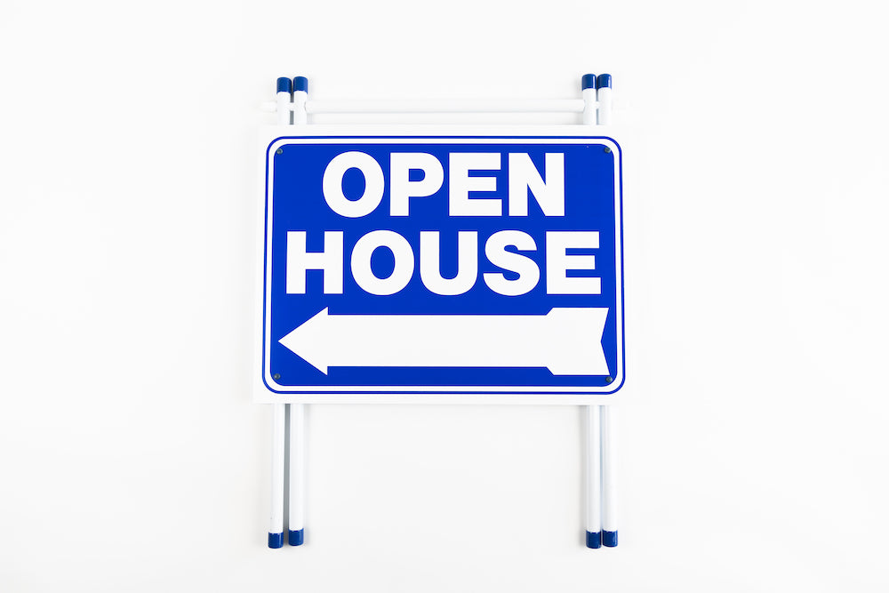 OPEN HOUSE - A-FRAME SIGN - BLUE