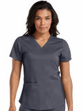 7459 V-NECK SHIRTTAIL TOP (Size: XS-3X) - All About Scrubs llc