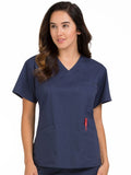 8403 V-NECK SIGNATURE 3 POCKET TOP - All About Scrubs llc