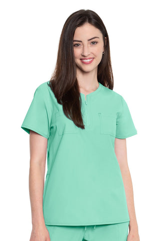 8407 ZIP NECK TOP - All About Scrubs llc
