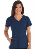 8416 V-NECKLINE RACERBACK TOP (SIZE: 2X-3X) - All About Scrubs llc