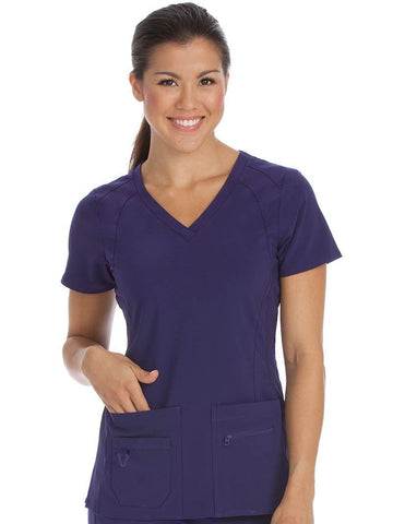 8416 V-NECKLINE RACERBACK TOP (SIZE: XS-XL) - All About Scrubs llc