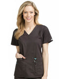 8458 V-NECK KNIT PANEL TOP - All About Scrubs llc
