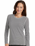 8522 PERFORMANCE KNIT STRIPE TEE - All About Scrubs llc