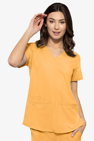 8579 RACERBACK SHIRTTAIL TOP (Size: 2X-5X) - All About Scrubs llc