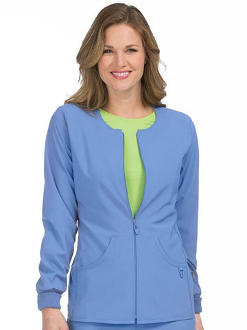 8638 ZIP FRONT WARM UP - All About Scrubs llc
