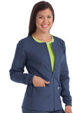 8687 ZIP FRONT WARM UP - All About Scrubs llc