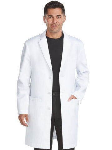 9680 MEN'S TAILORED LONG LENGTH LAB COAT - All About Scrubs llc