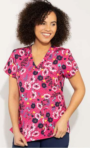 8564 Wimsical Floral (WIFL) - All About Scrubs llc