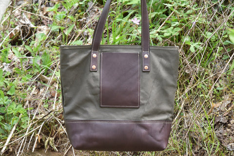 Olive canvas tote