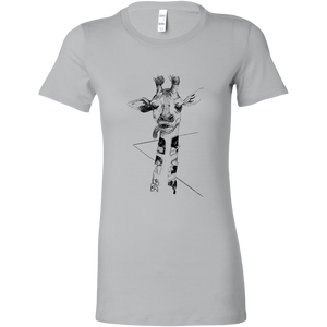 Giraffe on the Road T-shirt for Women