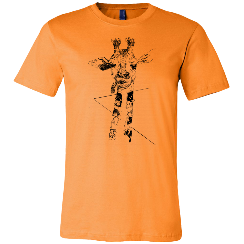 Giraffe on the Road T-shirt for Men