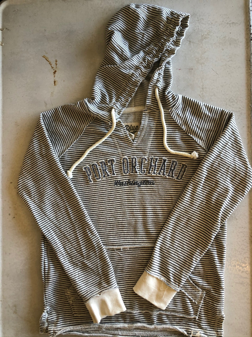 Ladies Striped Port Orchard Hoodie