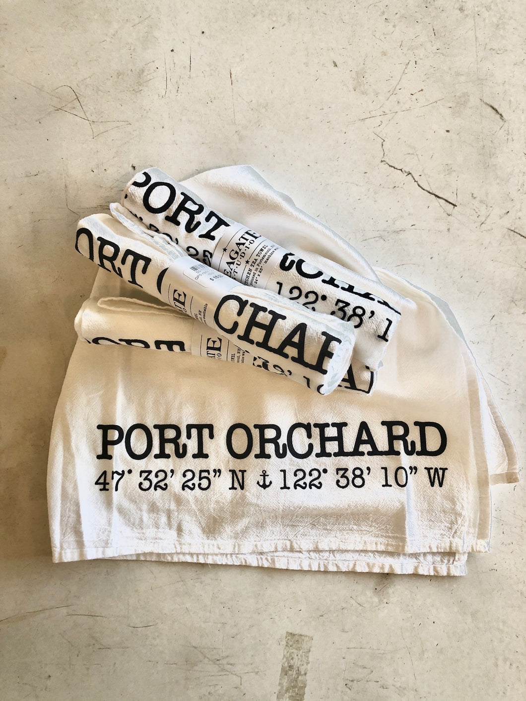 Port Orchard GPS Coordinates Kitchen Towel