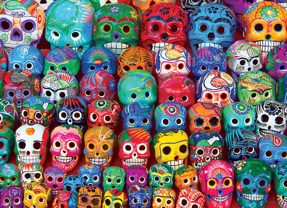 Traditional Mexican Skulls 1000 Piece Puzzle
