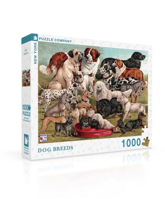 Dog Breeds 1000 Piece Puzzle