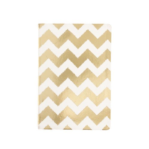 Gold Chevron Style Journal