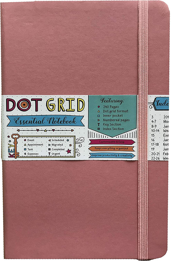 Bermuda Coral Dot Grid Essential Notebook