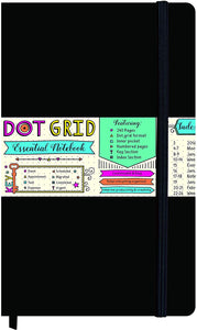 Black Dot Grid Essential Notebook