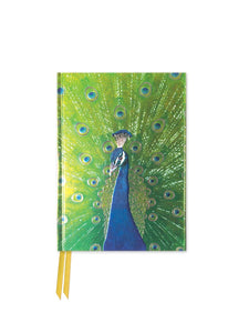 Peacock in Blue and Green Pocket Journal