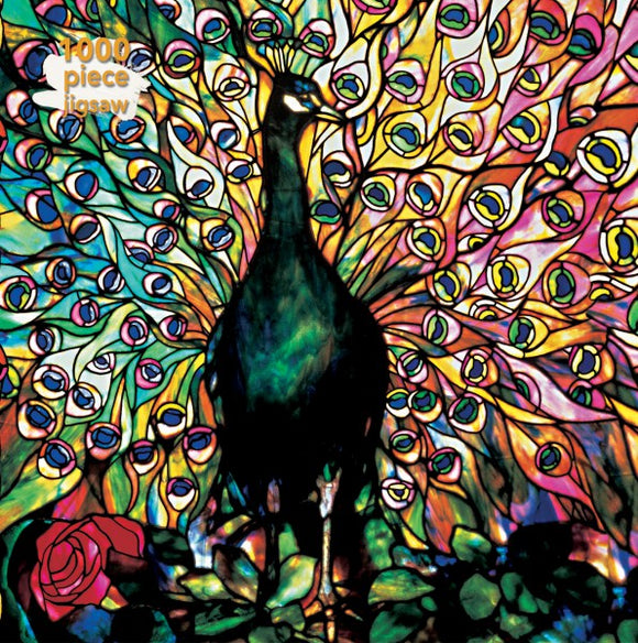 Louis Comfort Tiffany: Displaying Peacock 1000 Piece Puzzle