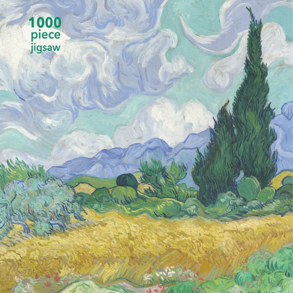 Vincent Van Gogh: Wheatfield With Cypress 1000 Piece Puzzle