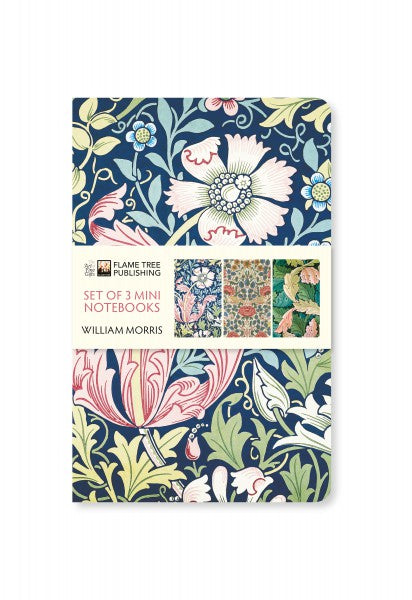 William Morris Pack of 3 Mini Notebooks