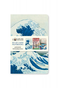 Japanese Woodblocks Set of 3 Mini Notebooks