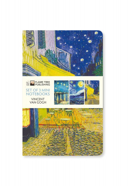 Vincent Van Gogh Set of 3 Mini Notebooks