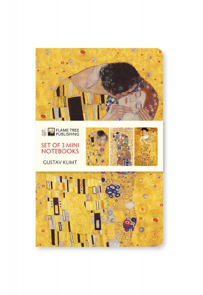 Gustav Klimt Set of 3 Mini Notebooks