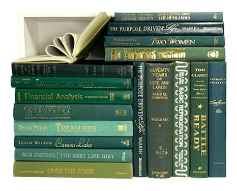 Assorted Green - 3 Feet of Books
