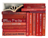 Assorted Red - 3 Feet of Books