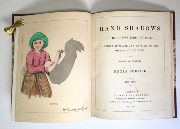 Bursill, Henry. Hand Shadows to Be Thrown Upon the Wall