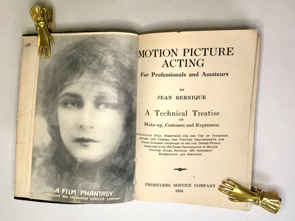 Bernique, Jean. Motion Picture Acting for Professionals and Amateurs
