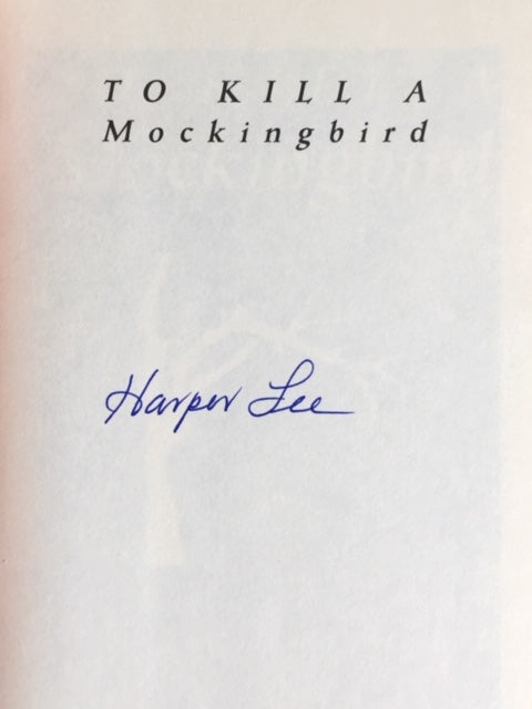 Lee, Harper. To Kill a Mockingbird [signed]