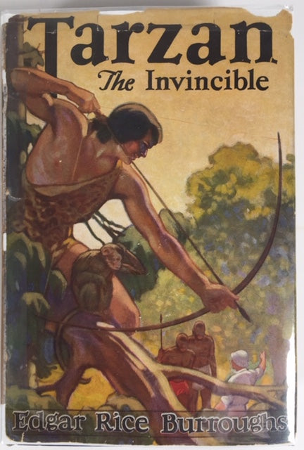 Burroughs, Edgar Rice. Tarzan The Invincible [inscribed first edition]