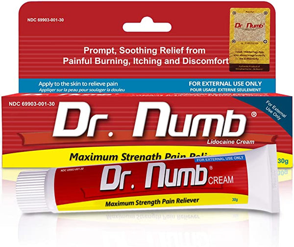 ANESTHETIC CREAM DR. NUMB NUMBS SKIN FAST (30 G)