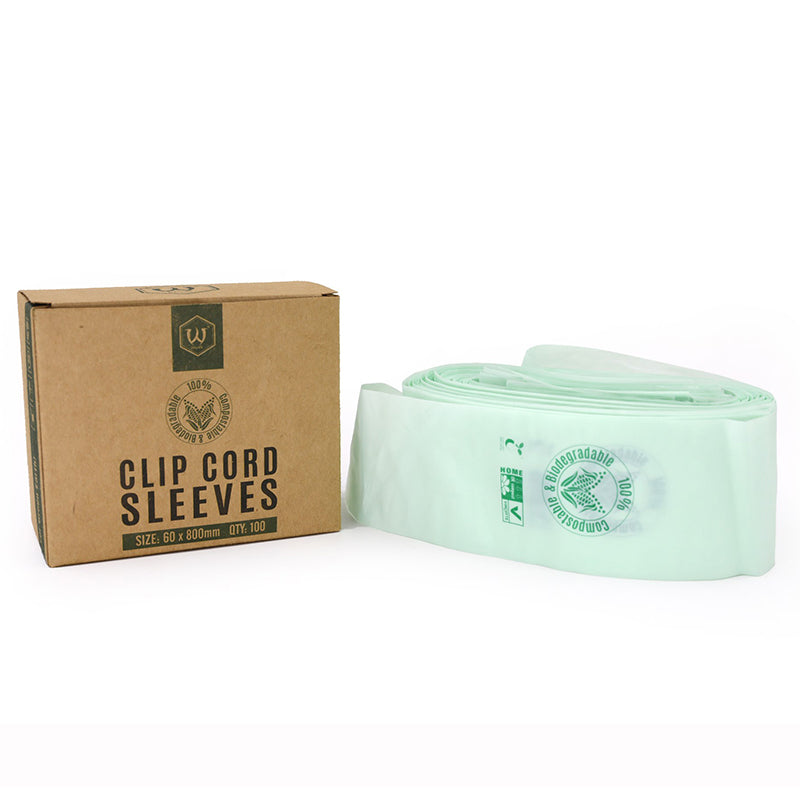 AVA - BIODEGRADABLE CLIP CORD SLEEVES PROTECTIVE BAGS
