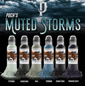 World Famous ink - Poch's muted storms set 6pc - 120ml